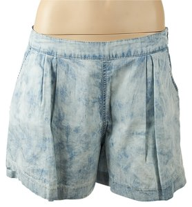Rebecca Taylor Acid Wash Shorts Blue