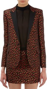 Saint Laurent Saint Laurent Leopard Jacquard Tuxedo Jacket 34 FR