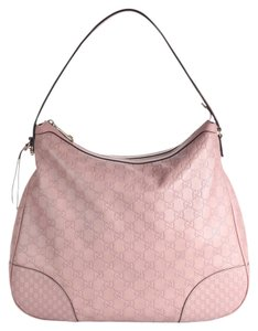Gucci Bree Hobo Leather Nude Shoulder Bag
