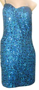 Scala Strapless Party Formal Prom Evening Sequin Silk Dress