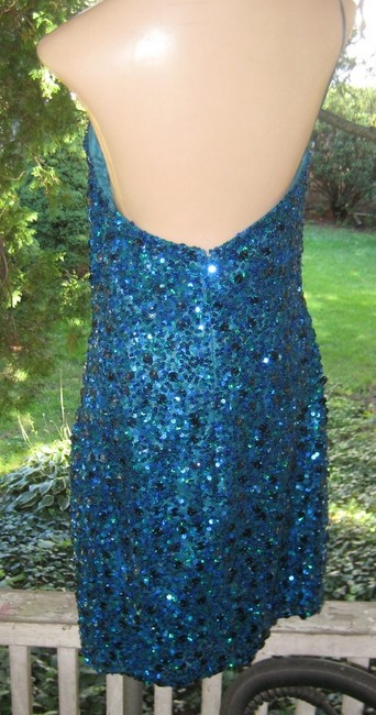 Scala Strapless Party Formal Evening Sequin Dress Image 3