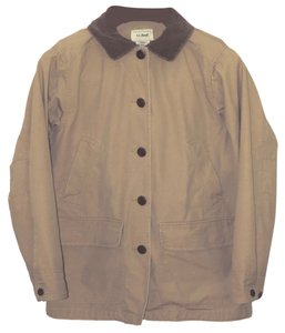 L.L.Bean Corduroy Lined Pea Coat