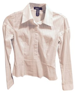 Laundry by Shelli Segal Button Down Shirt white with pin stripes