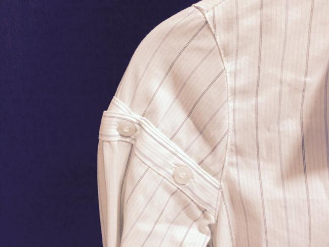 Laundry by Shelli Segal Button Down Shirt white with pin stripes Image 1