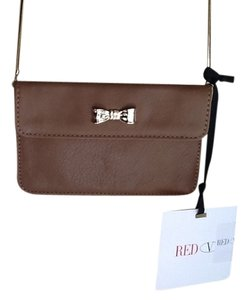 RED Valentino Leather Mini Bow Accent Chain Strap Cross Body Bag