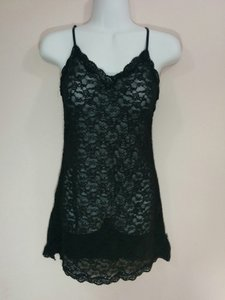 Victoria's Secret Black Sheer Floral Lingerie Nightgown Small #1607