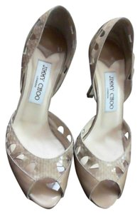 Jimmy Choo Patent Leather Heels NUDE Formal