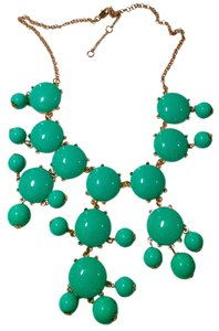 New Blue Green Gold Tone Bib Necklace Long J1301