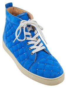 Christian Louboutin Louis Matelasse Sneakers Suede Blue Athletic