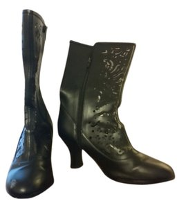 AJ Valenci Leather Boots Vintage Black Boots