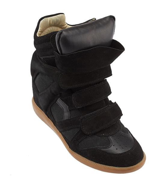 Item - Black Bekett Suede Wedge Sneakers Size US 9