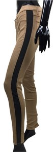 Jeans Stretch Skinny Stripe Skinny Pants black, tan
