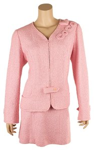 Chanel Chanel P22769 Pink Cotton Skirt Suit, Size 48 (55533)