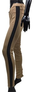 Other Jeans Stretch Stripe Skinny Pants black, tan