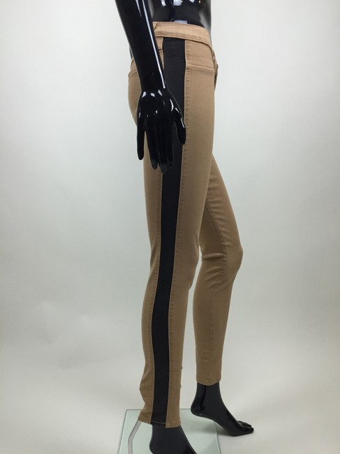 Other Jeans Stretch Stripe Skinny Pants black, tan Image 2