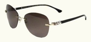 David Yurman David Yurman Women's Chiclet Rimless Butterfly Sunglasses In Gold & Tiger's Eye