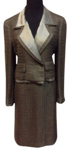 Chanel Chanel Vintage Bronze Double Breasted Mohair/Silk Waffle Knit Skirt Suit Size 4/6
