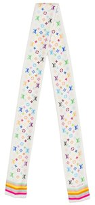 Louis Vuitton White Louis Vuitton silk Multicolore LV monogram bandeau New