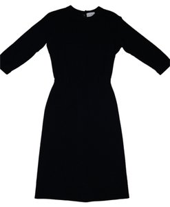 Lord & Taylor & Classic Fifth Ave Vintage Couture Runway Rare Wool Shift Tunic Sweater Dress