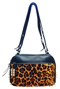 Christian Louboutin Roxanne Studded Black Pony Hair Shoulder Bag