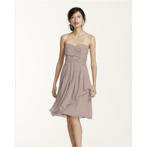 David's Bridal Biscotti Dress