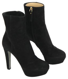 Sergio Rossi Bootie Suede Leather Black Boots