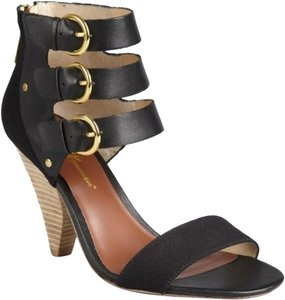 Matt Bernson Sandal Strappy Canvas Leather Black Sandals