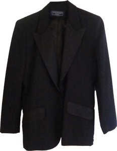 Norton McNaughton NEVER WORN 1995 NORTON McNAUGHTON BLACK SATIN LINED TUXEDO STYLE SUIT
