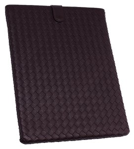 Bottega Veneta Bottega Veneta Brown Intrecciato Leather iPad Case (22511)
