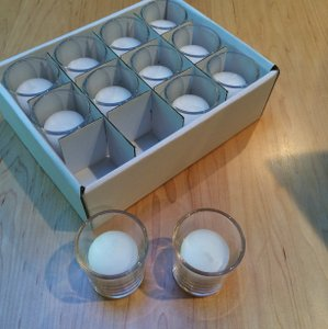 Yummie Clear/White Votive/Candle