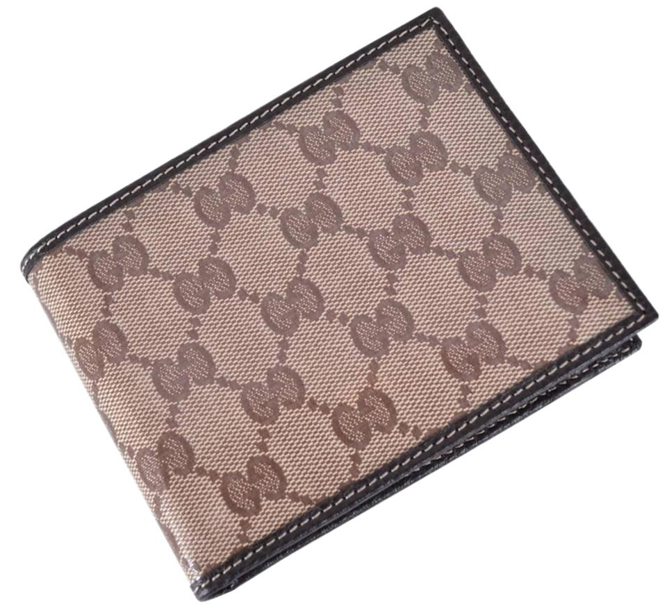 27deff6a818 Gucci New Gucci 217044 Men s Crystal GG Guccissima Trifold Passcase ID  Wallet Image 0 ...
