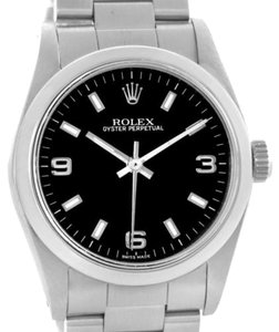 Rolex Rolex Midsize Oyster Perpetual Black Dial Stainless Steel Watch 67480