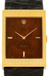 Rolex Rolex Cellini 18k Yellow Gold Wooden Dial Vintage Watch 4127