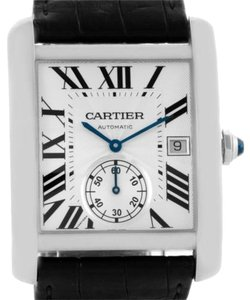 Cartier Cartier Tank Mc Automatic Silver Dial Mens Watch W5330003