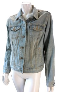 Gap Limited Edition Rocker Biker Light Blue Womens Jean Jacket