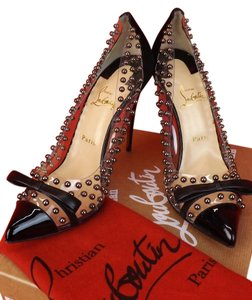 Christian Louboutin Black/Silver Pumps