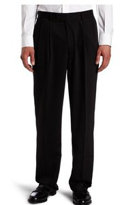 Louis Raphael Men's Tailored Gabardine Solid Flat Front Dress Pant Size 44/30 Nwt