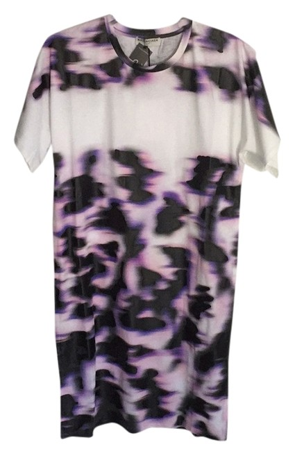 Item - White Pink Purple Black Above Knee Short Casual Dress Size 4 (S)