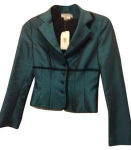Kay Unger Evening Wear Top dark green silk jacket