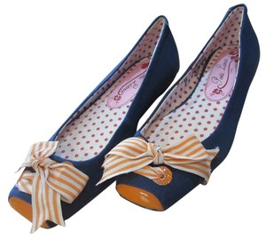 Poetic License Licence Navy & Orange Flats