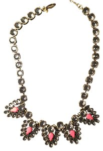 J.Crew J.Crew Neon Pink and Crystal Necklace