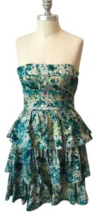 Cynthia Steffe Strapless Silk Dress