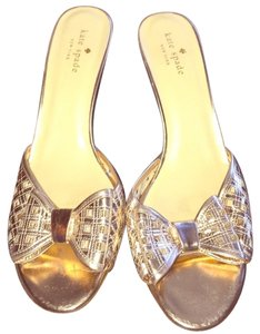 Kate Spade Fashion Stiletto Bride Gold Sandals