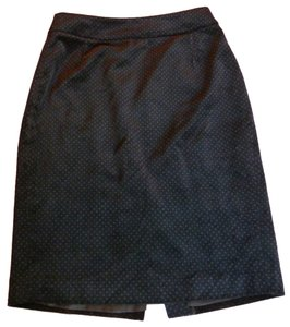 J.Crew Pencil Velour Polka Dot Skirt Black