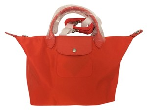 Longchamp Tote in Clementine