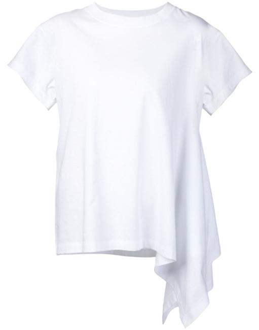 Item - White Draped Detail T-shirt New with Tags Small Tee Shirt Size 4 (S)