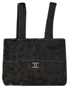 Chanel Skiny Sequin Tote Baguette