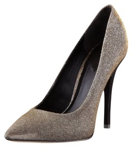 B Brian Atwood Black w/ silver and gold Pumps
