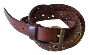 Gap Leather studded skinny belt