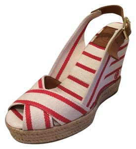 Tory Burch Red/Cream Sandals